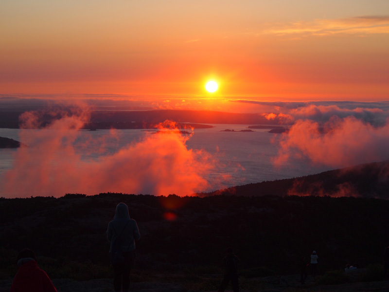 sunrise on cadillac mountain. Cars Review. Best American Auto & Cars Review